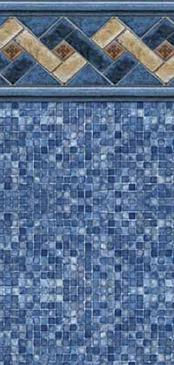 MOUNTAIN TOP TILE / BLUE MOSAIC