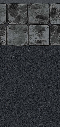 SLATE GREY TILE / BLACK GRANITE