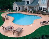 Free Form Pool with Feel End Step